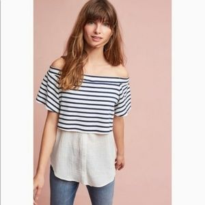 Anthropologie Postmark Layer Off Shoulder Tunic